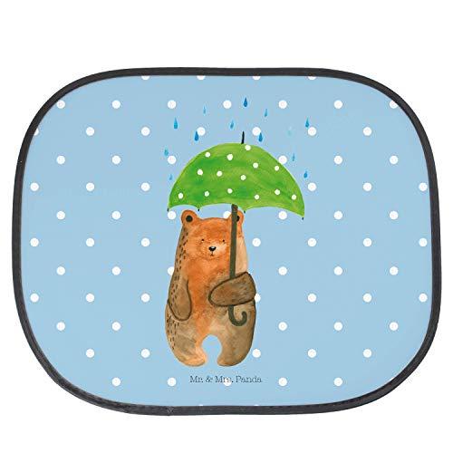 Mr. & Mrs. Panda Familie, Kinder, Auto Sonnenschutz Bär mit Regenschirm - Farbe Blau Pastell