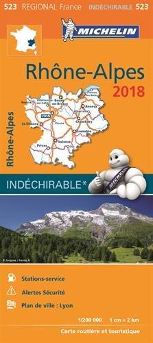 Carte Rhône-Alpes Michelin 2018 par Michelin