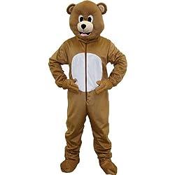 Dress up America marrón Oso Mascota para niños