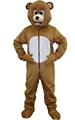 Idea Regalo - Dress Up America 593 - Costume per travestimento da Orso bruno, Unisex adulto, colore: Marrone