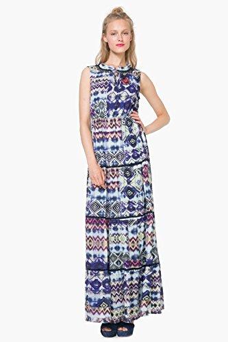 DESIGUAL - Vestito donna lungo senza maniche serpens 40 (m) blu