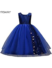 YYSKIRT Wedding Princess Dress Vestido de la princesa de la boda de Kids Girl Vintage bordado