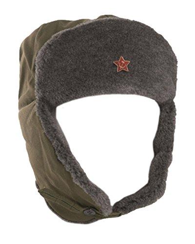 Original Russische Armee Ausgestellt UdSSR Sowjetunion Soldier Winter olive Mütze...