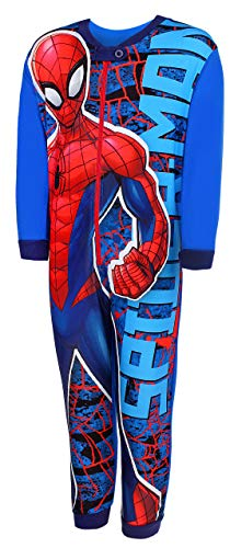 Marvel Spiderman Jungen Schlafanzug Onesie (Blau, 98)