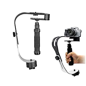 Stabilizzatore Supporto, CAM-ULATA Professionale Alluminio Portatile Mini Handheld Video Stabilizzatore Palmare… 15 spesavip