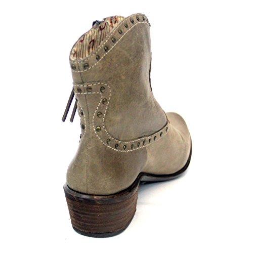 Lucky Brand-Stivaletti alla caviglia da uomo stile Cowboy Bianco (bianco)