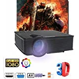 SLB Works Brand New 5000Lumens HD LED Home Theater Projector Video Projector Home Moive Games Meetin