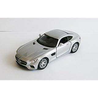 Anik-Shop Mercedes-AMG GT 4 Farben Modellauto Metall Modell Auto Spielzeugauto Welly 03 (Silber)