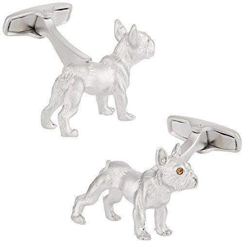 Cuff-Daddy - Gemelli da polso a forma di bulldog, confezione regalo inclusa