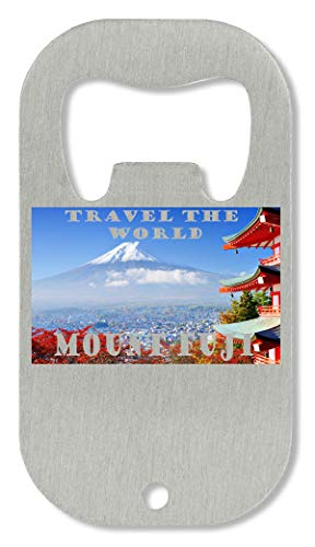 zz Mlount Fuji, Japan The World Graphic Apri Bottiglia