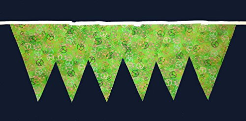 Paix CND Conception Tissu Bunting 30ft Long (approx) fait main