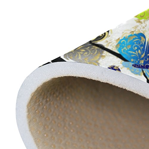 Bennigiry Kunstbaum Bereich Teppich Teppich Rutschfeste Eintrag Bodenmatte Fußmatten für Wohnzimmer Schlafzimmer 152,4 x 416 cm - 6