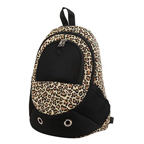 Zhhyltt zaino per animali domestici borsa da viaggio a rete - tracolla regolabile portante per animali con foro d'aria piccolo cane di media taglia