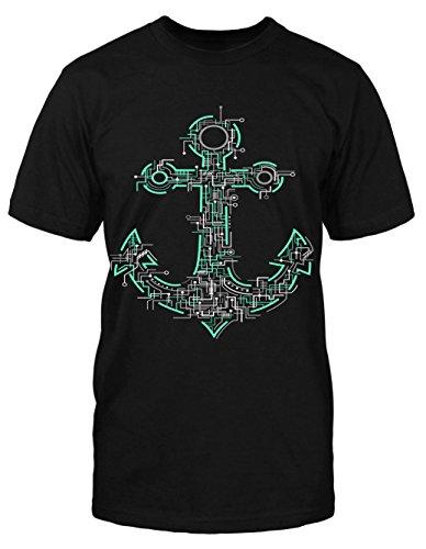 Elektrik Anker T Shirt Sailor Marine Rockabilly Anchor Vintage Sea Blogger Schwarz