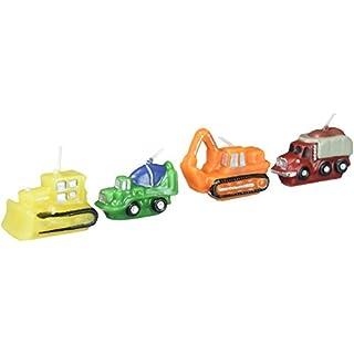 Wilton Kerzen-Set in Form von Baumaschinen, Mehrfarbig, 4 Stück