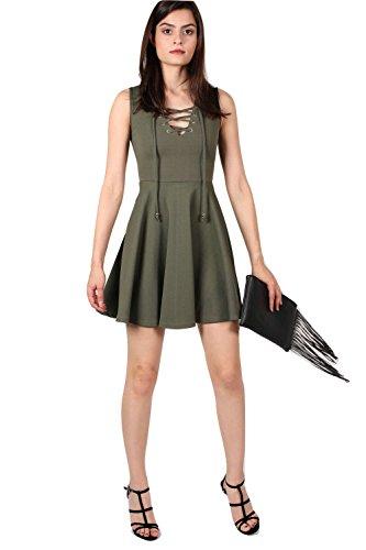 PILOT® kassidy lacer robe de patineuse avant vert kaki
