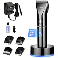 Hair Clippers Set for Men, Kebor Electric Cordless LED Display Titanium Ceramic Blade Haircut Kit with Charging Stand and Oil, Rechargeable Lithium-ion Battery Beard Trimmer Wireless PC1010