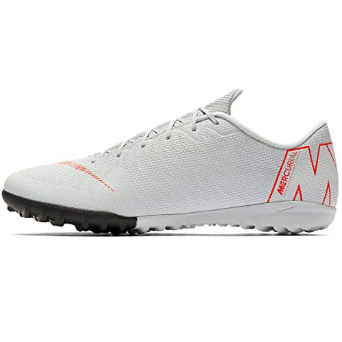 Nike Unisex-Erwachsene Vapor 12 Academy Tf Fitnessschuhe, Mehrfarbig (Wolf Grey/Lt Crimson/Pure Platinum 060), 44 EU - Rot Skate-schuhe Nike