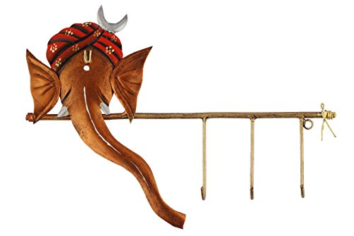 Swagger designer pagdi and crescent ganesha key hook holder / decorative wall hanging key holder  available at amazon for Rs.499