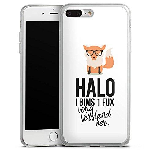 Apple iPhone 7 Plus Slim Case Silikon Hülle Schutzhülle Fuchs Spruch I bims 1 Fux Silikon Slim Case transparent