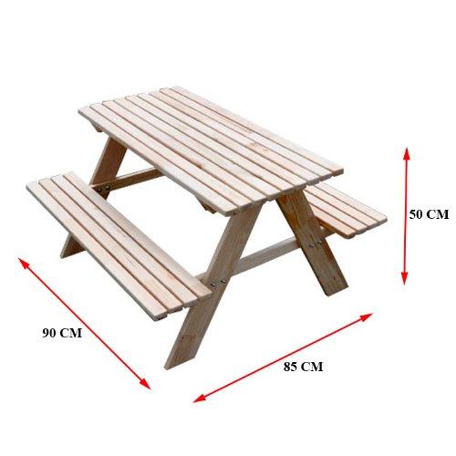 Amazon.de: Kindersitzgarnitur 4 Sitzer Kinder Sitzgruppe Holz Garten Tisch  Bank Kindertisch (Blau)