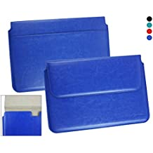 Emartbuy® Asus C100PA Chromebook Flip 10.1 Pulgada Dark Azul Manga Cubierta Superior PU Cuero Caja Carpeta Caso Folio Encierro Magnético Aleta