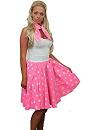 Plain and Polka Dot Full Circle Skirt FREE neck tie X-Large Plus Size