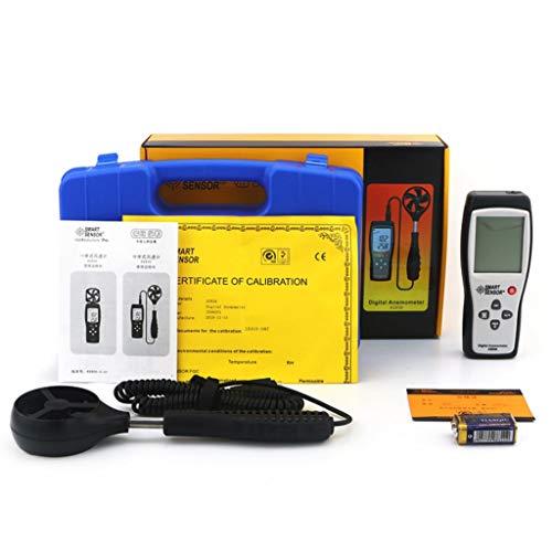 Estaciones meteorológicas portátiles Anemómetro digital portátil LCD Medidor de velocidad del viento...