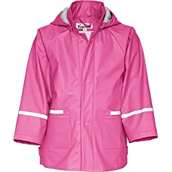 Playshoes Waterproof Raincoat, Chaqueta Impermeable Infantil, Rosa 018, 6 años (116 cm)