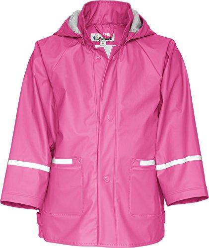 Playshoes Unisex - Kinder Regenmantel 408638 Regenjacke Basic, Gr. 140, Rosa (18 pink)