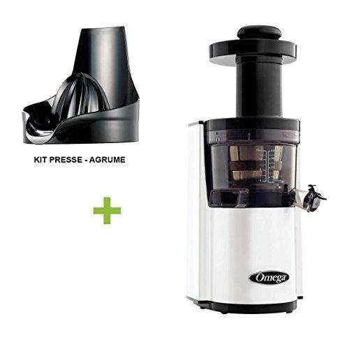 pack promo omega vsj843 blanc presse agrume extracteur de jus vertical offrez vous. Black Bedroom Furniture Sets. Home Design Ideas