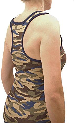 2er oder 6er Pack Camouflage Unterhemd, Top mit Ringerrücken, Boxer Rücken, Rambo Unterhemd, Gr.: S bis XL 2 Stück Variante 1