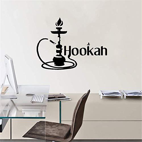 wandaufkleber 3d Wandtattoo Schlafzimmer Wasserpfeife arabische Shisha Zigarette Dampf Tabak Rauch Wand Fenster Glas Aufkleber Dekor einfach