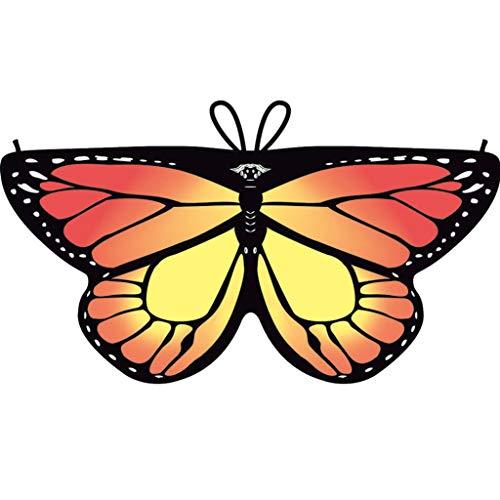 Faschingskostüme Schmetterling Schal Kinder Kostüm Butterfly Wings Flügel Pixie Cape Mädchen Poncho für Cosplay Halloween Fasching (Globetrotter Kostüm)