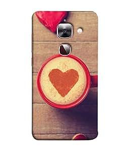 PrintVisa Designer Back Case Cover for LeEco Le 2s :: LeEco Le 2 Pro :: LeTV 2 Pro :: Letv 2 :: LeEco Le 2 (Coffee With Heart Cute Design)