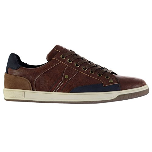 Soviet Hommes Casual Low Chaussures Baskets Sport Casual Marron