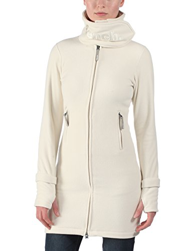 Bench - Fleecejacke Long Funnel Neck, Felpa Donna, Beige (CR042), X-Large (Taglia Produttore: X-Large)