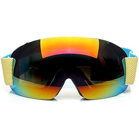 CHT Doppio Antinebbia Sci Grande Specchio Visione 170 Millimetri Colore Opzionale,Colorful