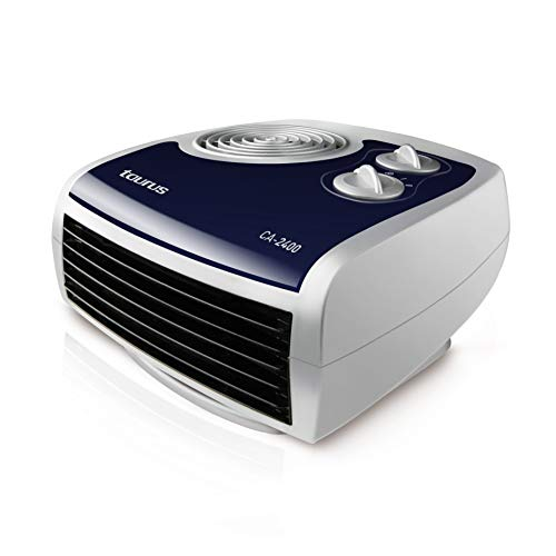 Taurus CA-2400 Calefactor horizontal, 2400 W, 3 Velocidades, Azul, Color blanco