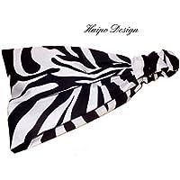 Haarband Bandana Kopftuch Zebra schwarz weiß