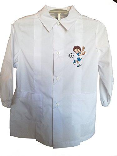 Siggi grembiule 33gr3081 scuola materna bambino bianco 3-4-5-6-7-8 anni (70 7 anni)