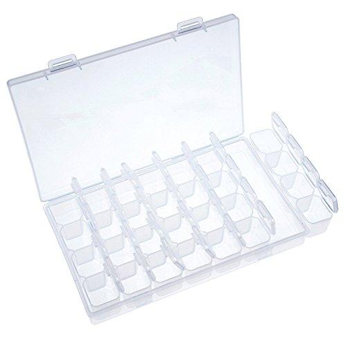 ROSENICE Sortierkasten Transparent Schmuckschatulle Aufbewahrungsbox für Kosmetik Schmuck Perlen Werkzeug
