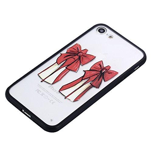 iPhone 7 Hülle, Voguecase Silikon Schutzhülle / Case / Cover / Hülle / TPU Gel Skin für Apple iPhone 7 4.7(Bunte Feder 14) + Gratis Universal Eingabestift Rot Schuhe mit hohen Absätzen 03