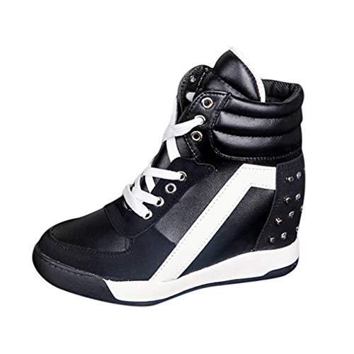Donna Scarpe da Ginnastica Sportive Fitness Basse Sneakers con Zeppa Interna Moda Traspirante Stringate Scarpe da Corsa Sneakers Taglia 35-39