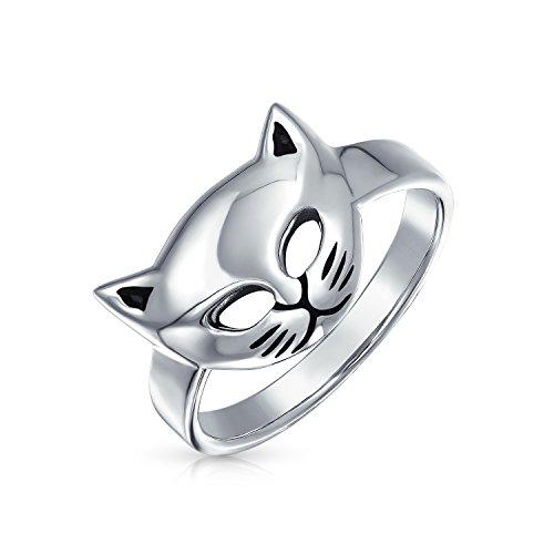 925 Kitty Cat Face Venezianische Maske Ring (Silber-maskerade-masken Für Frauen)