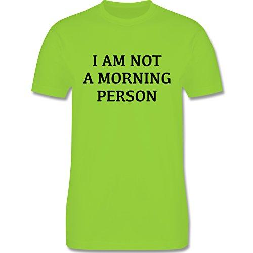 Statement Shirts - I am not a morning person - Herren Premium T-Shirt Hellgrün