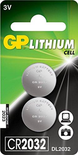 GP Batteries Lithium Cell CR2032 Litio 3V batería no-recargable - Pilas (Litio, Botón/moneda, 3 V, 2 pieza(s), CR2032,...