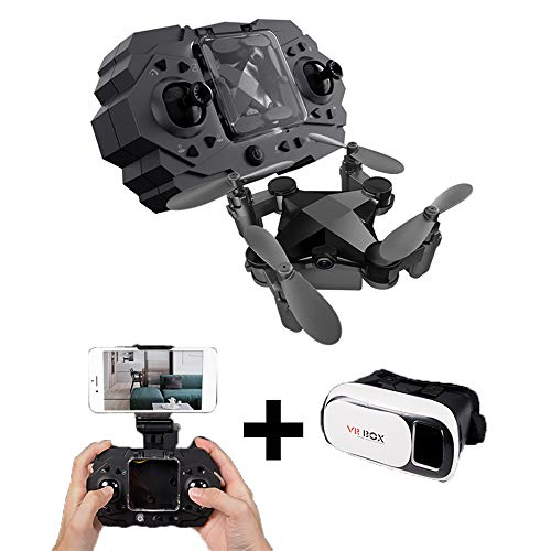 HAHA Mini Drone with HD Camera Live Video, Foldable Quadcopter with Adjustable Wide Angle Camera, Follow Me, Headless Mode, Long Flying Time, Selfie Drone