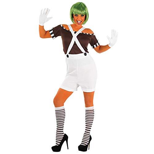 Fun Shack Damen Costume Kostüm Womens Oompa Loompa Dungarees Größe S