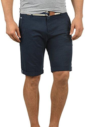 !Solid Monty Herren Chino Shorts Bermuda Kurze Hose Mit Gürtel Aus Stretch-Material Regular-Fit, Größe:L, Farbe:Insignia Blue (1991)